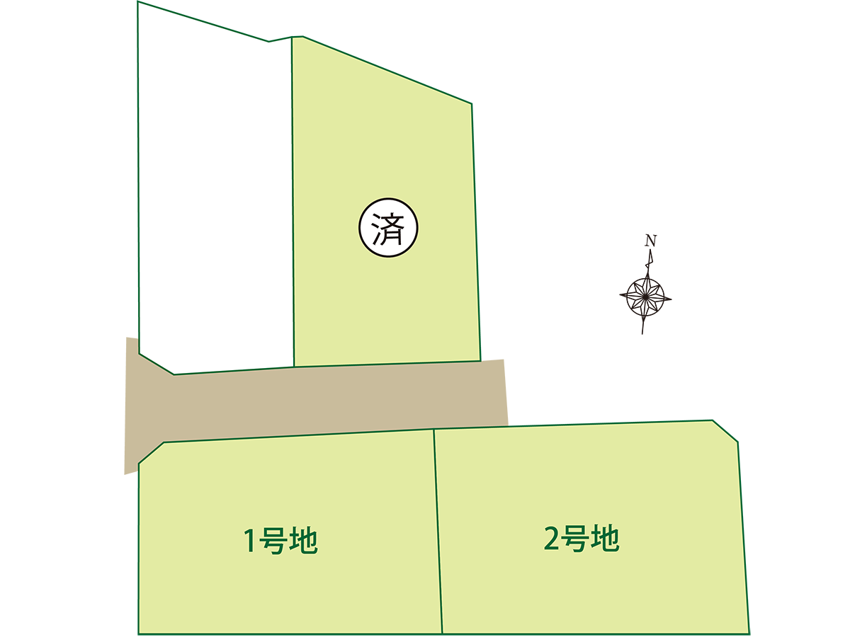 佐世保市下本山町分譲地区画図