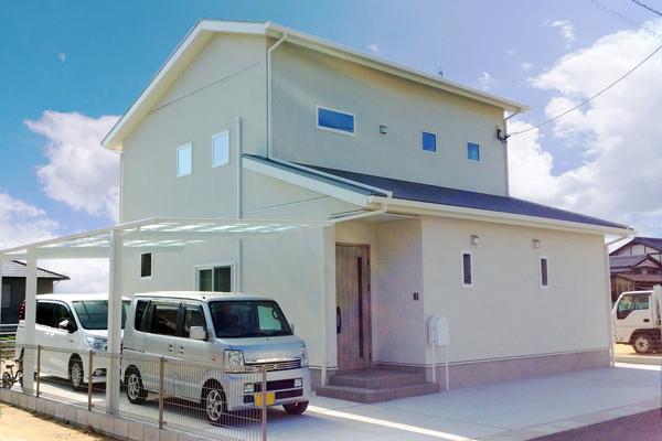 土間からあがる開放性のあるLDK(佐賀県江北町Y様邸)