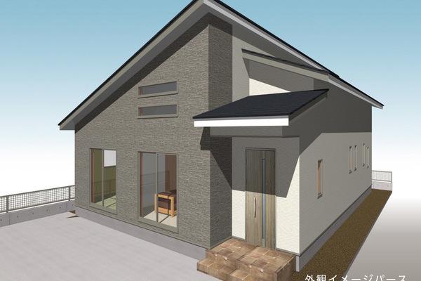 長く暮らしやすい平屋 リビングは勾配天井 広田平屋モデルハウス※現在建築中