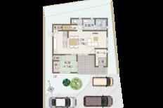 タイルテラス、書斎がある家 野中建売モデルハウス(佐世保市野中町)のサムネイル