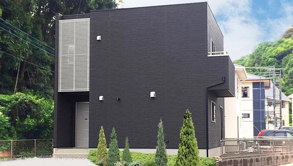 四角いキューブ型の外観スタイルのお家(佐世保市S様)